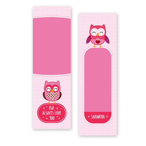 Owl Always Love You Bookmark Template My Product Catalog
