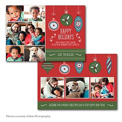 Vintage Bulbs Holiday Card Template