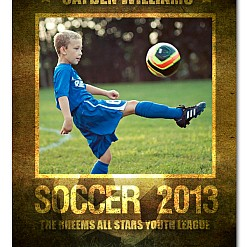 Cayden Soccer Sports Template