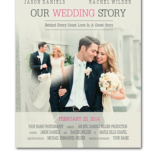 Movie Poster Wedding Template  1