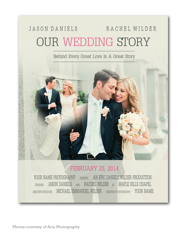 Movie Poster Wedding Template My Product Catalog