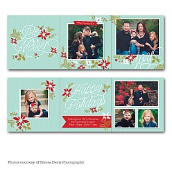 Merry Garden Accordion Holiday Card
