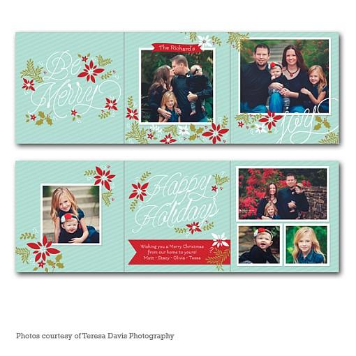 Merry Garden Accordion Holiday Card 1