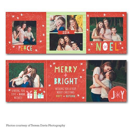 Dreamy Noel Accordion Holiday Card 1
