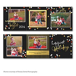 Be Jolly Accordion Holiday Card