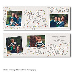 Holiday Lights Accordion Holiday Card