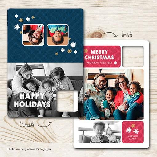 Jolly Winter Folded Holiday Card 1