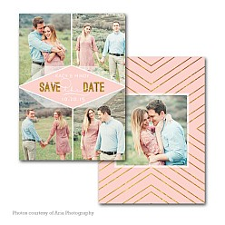 Arrow Head Save The Date Card